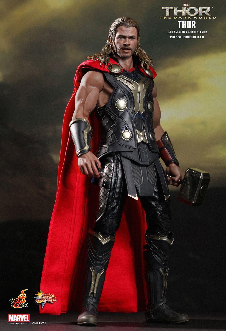 Hot Toys Thor 2 Light Asgardian Armor Exclusive MMS225 Mjolnir Dark World - New