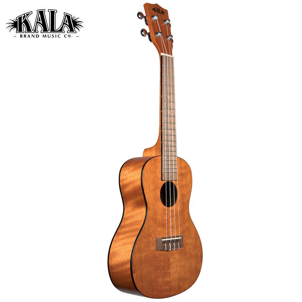 Kala KA-CEM Amber Satin Exotische Mahagoni Konzertgröße Ukulele mit Aquila Strings