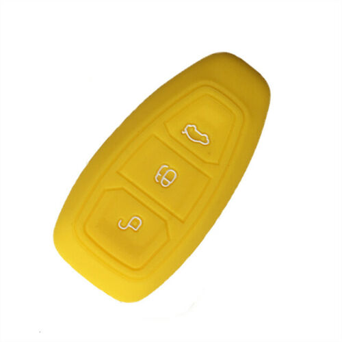 Yellow Silicone 3 Button Remote Key Case Fob Cover FORD FOCUS MONDEO FIESTA KUGA