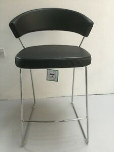 Astounding Details About Calligaris New York Bar Stool Ex Display Black Faux Leather Pdpeps Interior Chair Design Pdpepsorg