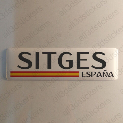 Sitges Spanien Aufkleber 120x30mm Autoaufkleber Flagge 3D Fahne Spain