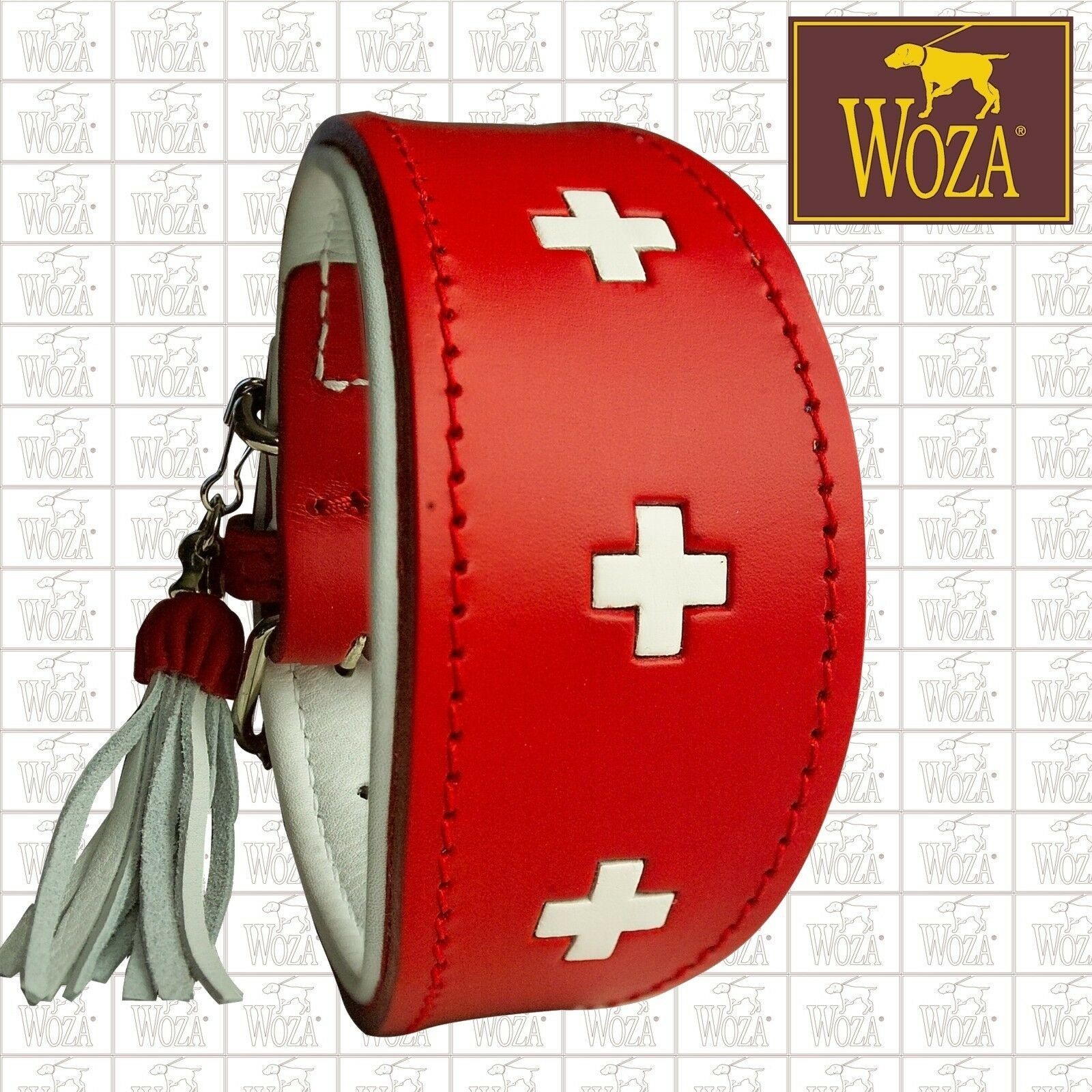 PREMIUM grauHOUND COLLAR WOZA SWISS COW LEATHER LEATHER LEATHER SOFT NAPA HANDMADE TASSEL C31479     | Moderate Kosten