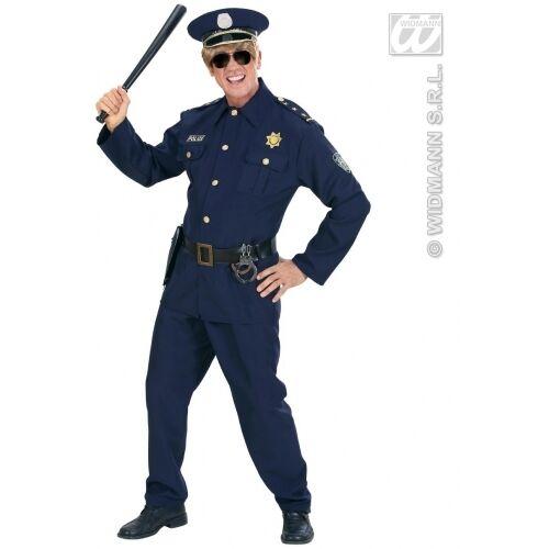 CARNEVALE COSTUME VESTITO POLIZIOTTO UOMO TAGLIA  M