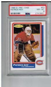 1986-Opeechee-OPC-PSA-8-Patrick-Roy-Rookie-Card-53-Montreal-Canadiens