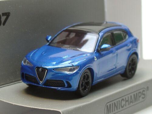 - 870 120202-1:87 2018 Minichamps Alfa Romeo Stelvio Quadrifoglio azul met