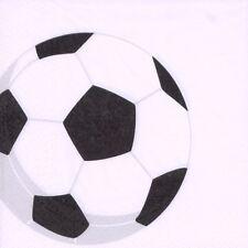 "50 Servietten 3-lagig 1/4-Falz 33 cm ""Soccer "" Fussball Party"