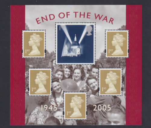 Great Britain 2005 MUH MS 60 Anniversary War SG 2547