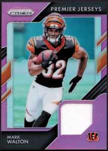 huge selection of b9be6 9061e Details about 2018 Panini Prizm Pink Premier Jersey MARK WALTON Rookie RC  SP - BENGALS