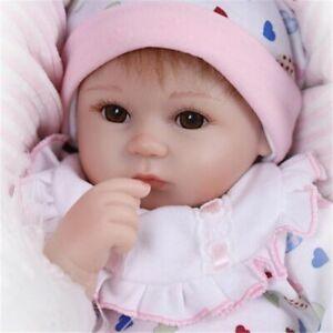 18/'/' Real Lifelike Newborn Reborn Baby Girl Handmade Soft Silicone Vinyl Dolls