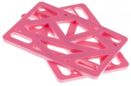 Krooked Skateboard Riser Pads Pink oder Schwarz 0.6cm 0.3cm