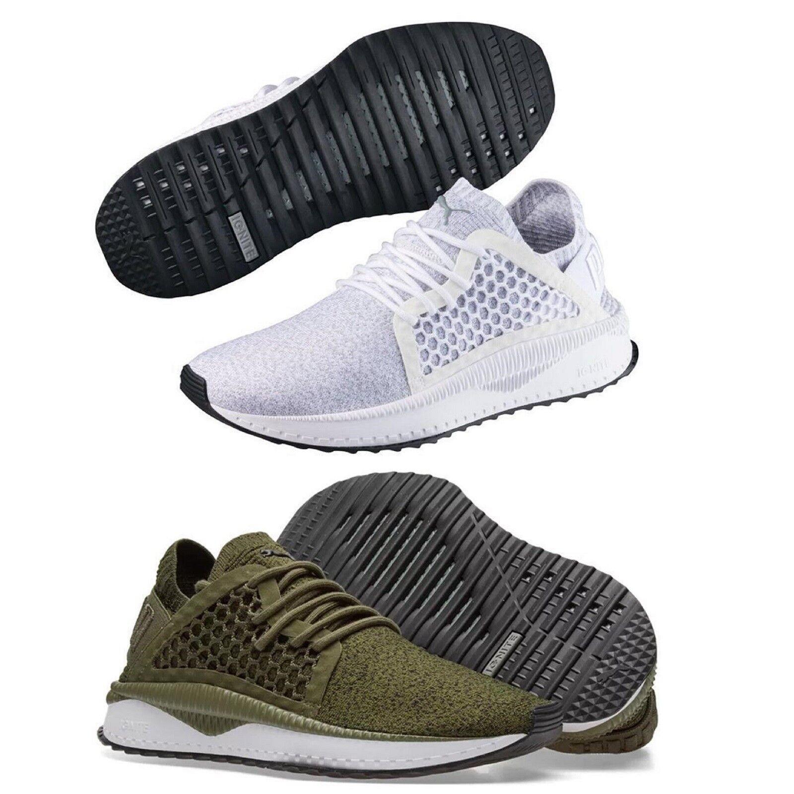 Puma TSUGI Netfit Evoknit hommes Trainers Shinshei Cage Olive blanc Chaussures