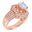 Redondo-y-Corte-Baguette-Diamante-3-00-Kilates-18-Ct-Anillo-Oro-Compromiso miniatura 8