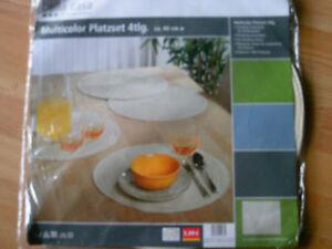 1 De 2 Bella Casa 4er Place Sets Rond 40 Cm Beige 100% Polyester 30 ° Waschb Neuf Dans Sa Boîte-afficher Le Titre D'origine