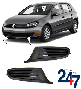 Neuf-VOLKSWAGEN-VW-GOLF-VI-MK6-08-12-pare-chocs-avant-LOWER-FOG-LIGHT-Grill-Paire-Set