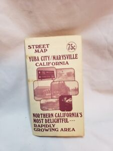 Map Of California Yuba City.Details About 1978 Yuba City Marysville Street Map Northern California Advertising Ads