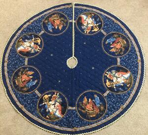 O Holy Night Nativity Holy Family 3 Kings Quilted Christmas Tree Skirt | eBay