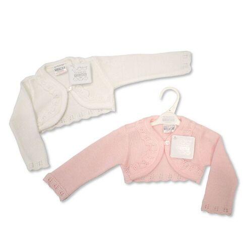 23 Months Baby Girls Knitted Fancy Cardigan Cardie Shrug Bolero Newborn