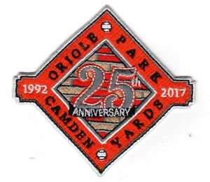 25TH ANNIVERSARY CAMDEN YARDS COMMEMORATIVE PATCH BALTIMORE ORIOLES ROBSINSON