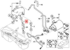 Details about Genuine BMW E36 E46 E52 Cabrio Fuel Injection System Hose OEM  16111182825