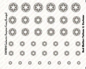 Star Wars ARF Trooper Waterslide Decals for 1//18 and 1//12 figures Scale Decals