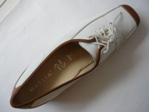 5 dépôts pour Marron cuir à Hassia Blanc lacets 7 41 5 en Mocassins Chaussures wzPqOvE