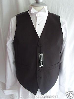 "Silk-Mens Waiters//Wedding BLACK Waistcoat 5XL =48/""=120cm Chest-P/&P 2UK/>1st Class"