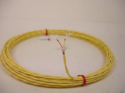 13 feet 26 AWG Shielded Silver Plated Wire 2 Twisted Kynar