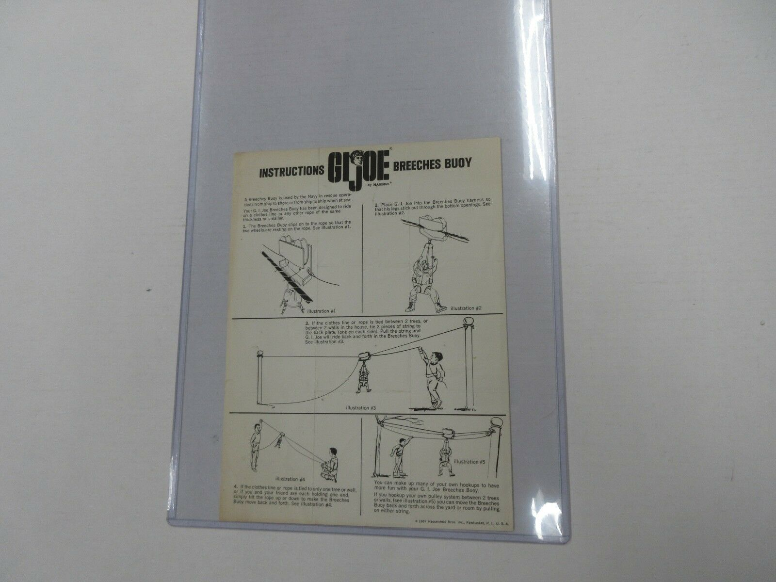 1967 gi joe breeches buoy instructions to complete