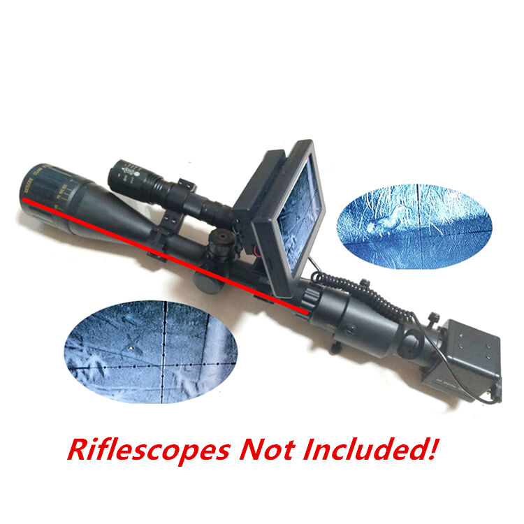Day Night Use Rifle Scopes DIY Night Vision with LCD Screen and Laser IR Torch