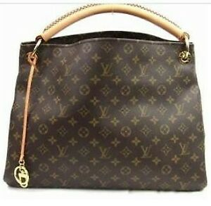 Louis-Vuitton-Artsy-MM-Hand-Bag-Brown-Authentic-100-genuine
