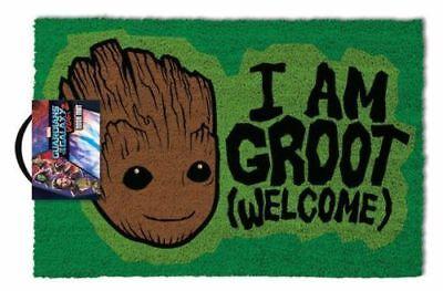 Gardiens de la Galaxie I Am Groot Bienvenue porte tapis 60 x 40 cm COCO PVC dos