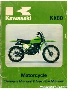 Details about Used 1979 Kawasaki KX80-A1 Motorcycle Owners Service on
