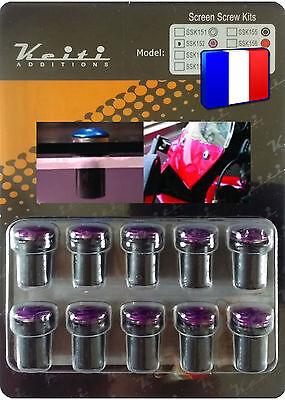 Kit Bulle 10 Boulons Violet Yzf R1 Yzf R125 Yzf R6