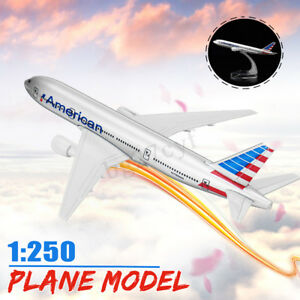 16cm-1-250-Plane-Model-Boeing-777-Airlines-Metal-Diecast-Aircraft-Desktop