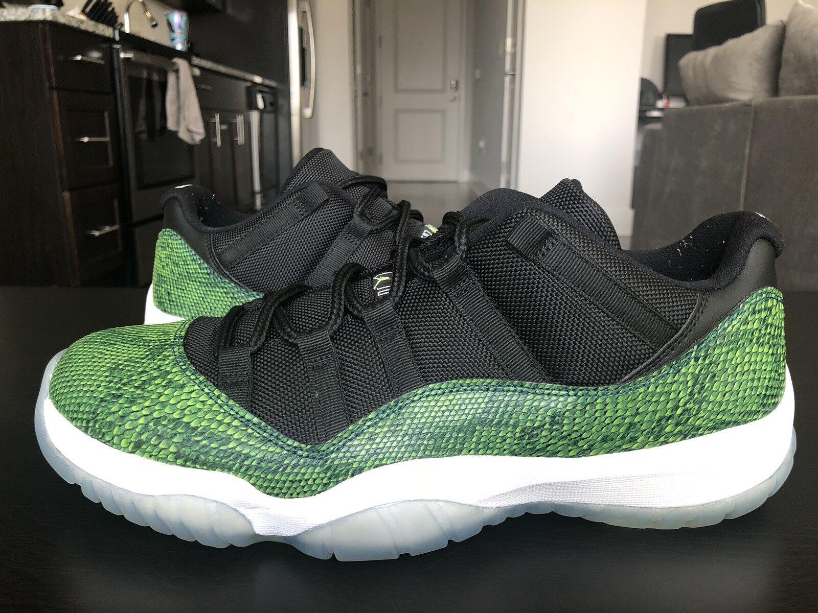 Nike air jordan retro - - - xi 11 geringer  10,5 nachtschatten grne schlangenhaut 528895-033 013cb3