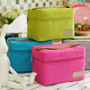 Details About Portable Waterproof Insulated Bag Tote Lunch Small Ice Pack Thermos Cooler