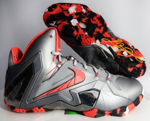 e91453e59cf7 Nike Lebron James XI Elite Team Wolf Grey Laser Crimson Size 10 ...