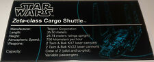 8143 UCS Zeta-class Cargo Shuttle Building Blocks Set for Star Wars Bricks Toys