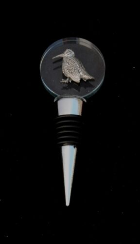 Woodcock Sitting Glass and Metal Red Wine Whiskey Bottle Stopper Cork Gift