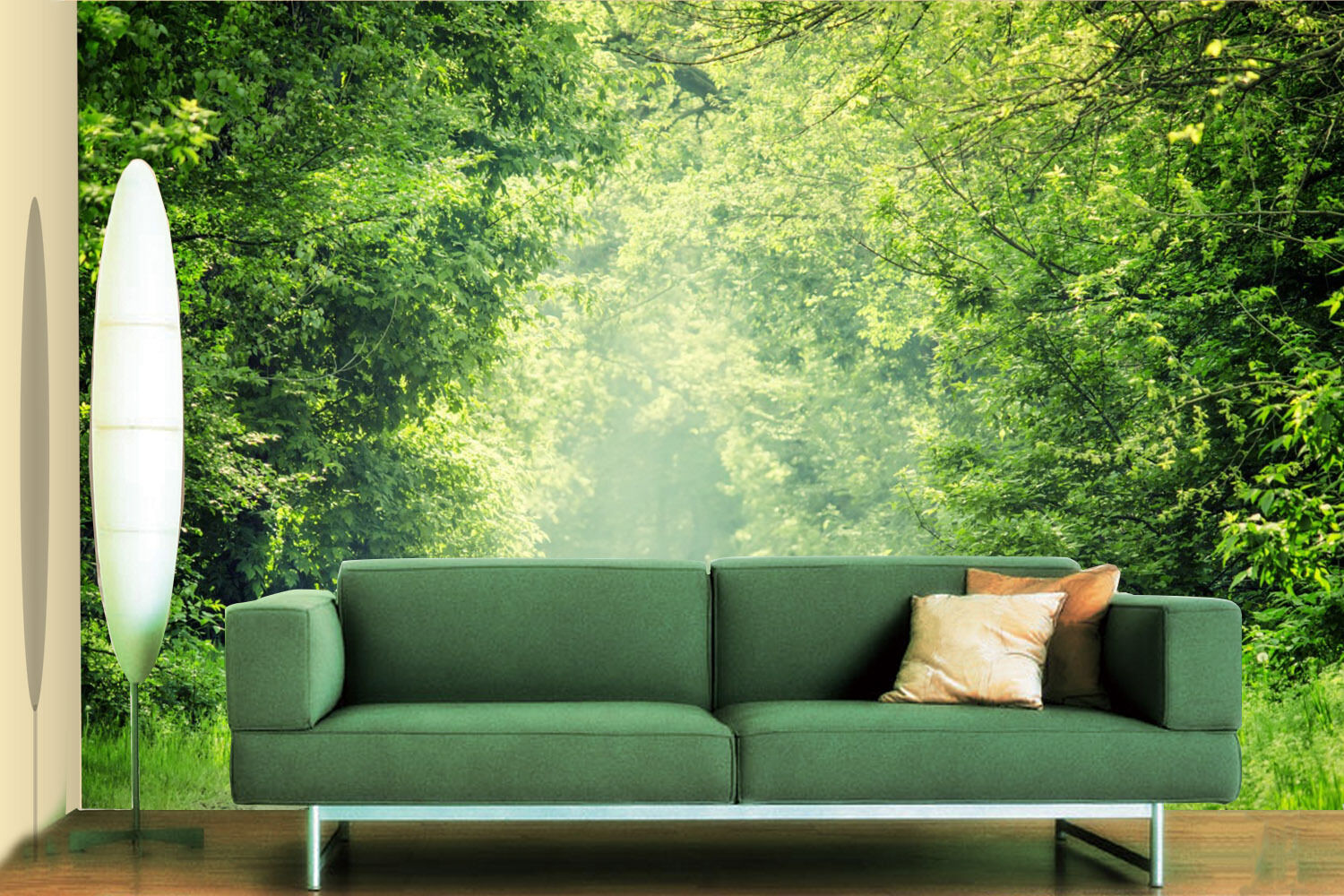 3D Green Forest Tree 797 Wall Paper Wall Print Decal Wall Deco Indoor Wall