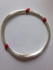1mm Half Hard 1oz 925 Sterling Silver Half Round Wire 18g