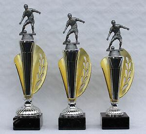 3er-Serie Pokale Fußball Figuren inkl Gravuren