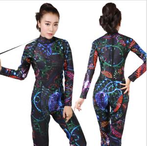 Women Lady 3MM Neoprene Long Sleeved Dive Suit Scuba Diving Jump Surf Wetsuits