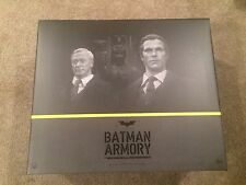 HOT TOYS DARK KNIGHT ARMORY WITH BATMAN, BRUCE WAYNE & ALFRED PENNYWORTH