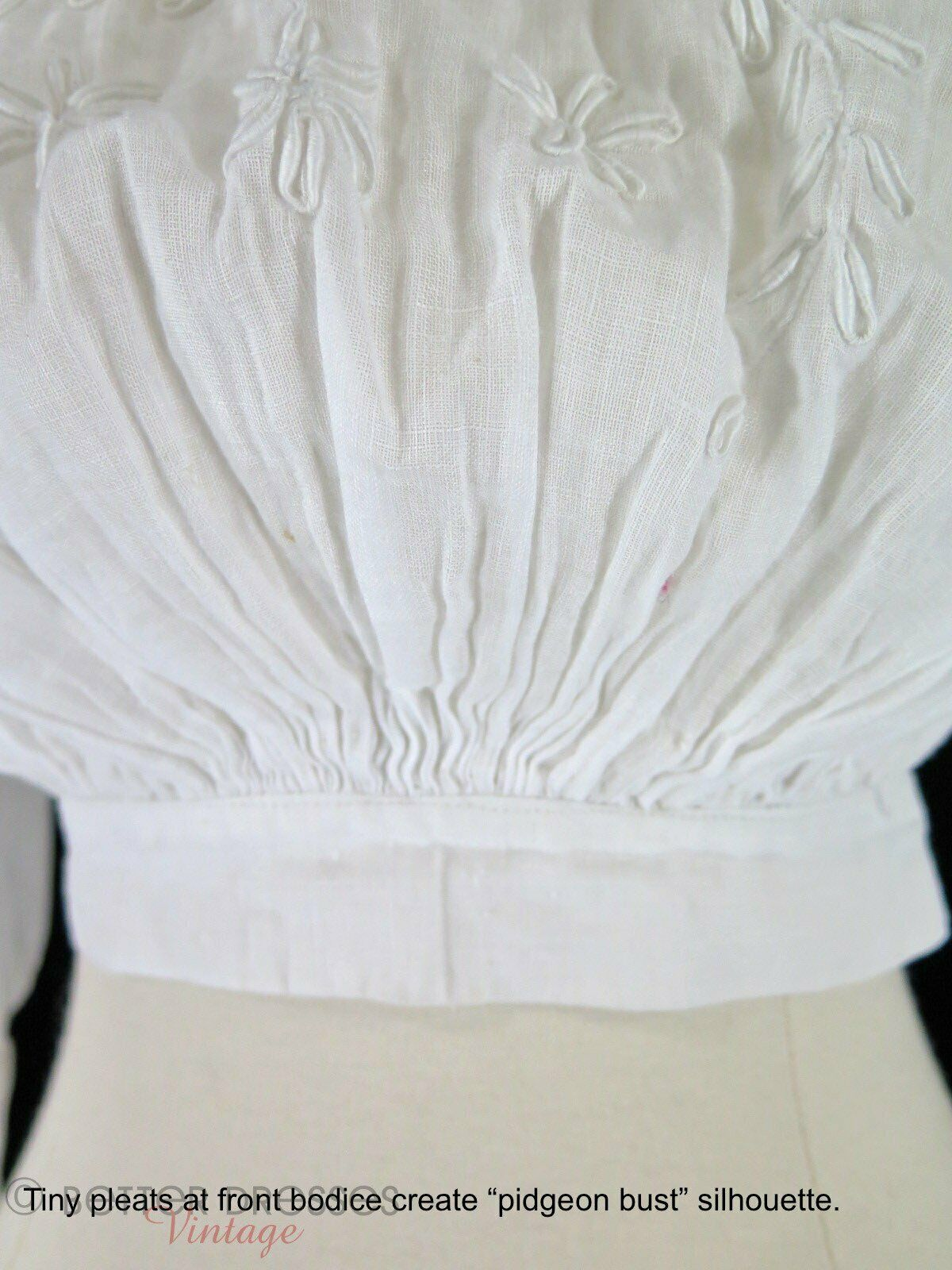 Antique Embroidered Blouse - xs, sm - image 5