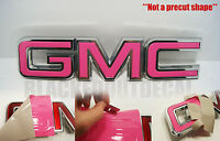 07-16 Gmc Sierra Yukon Pink Front Grill Emblem Overlay Kit 1500 Acadia Decal
