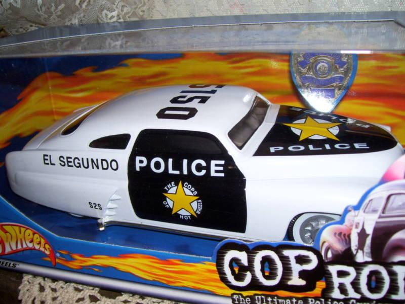 Hot Wheels Cop Cop Cop Rods '49 Merc El Segundo MIP 8 inches long 2000 9ccb76