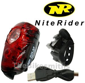 Niterider-Solas-250-Lumens-Red-Tail-Light-USB-Rechargeable-Daylight-Visible-Bike