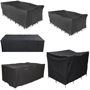 Varies-Size-Waterproof-Furniture-Cover-Garden-Table-Chair-Rectangular-Shelter-AU