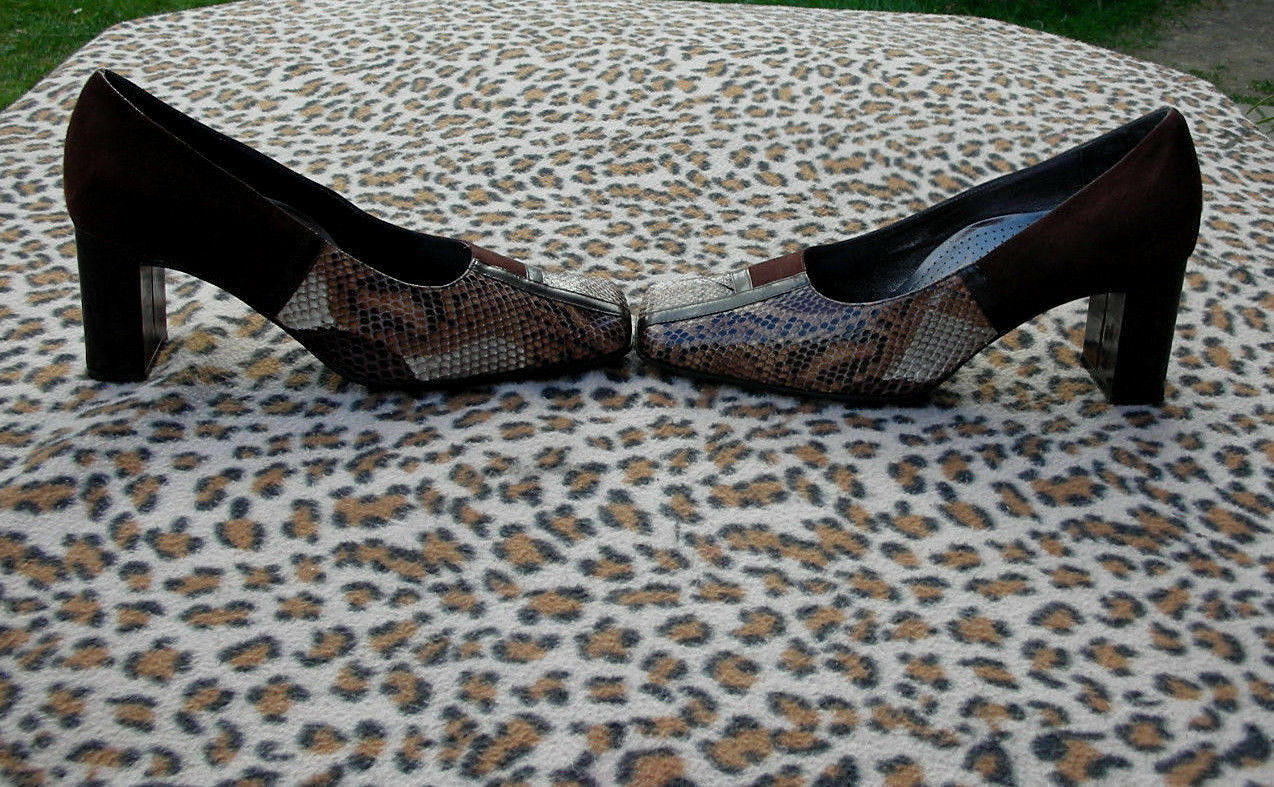 Vintage Valleverde Made in  snakeskin Leder schuhe UK 5 EU  38